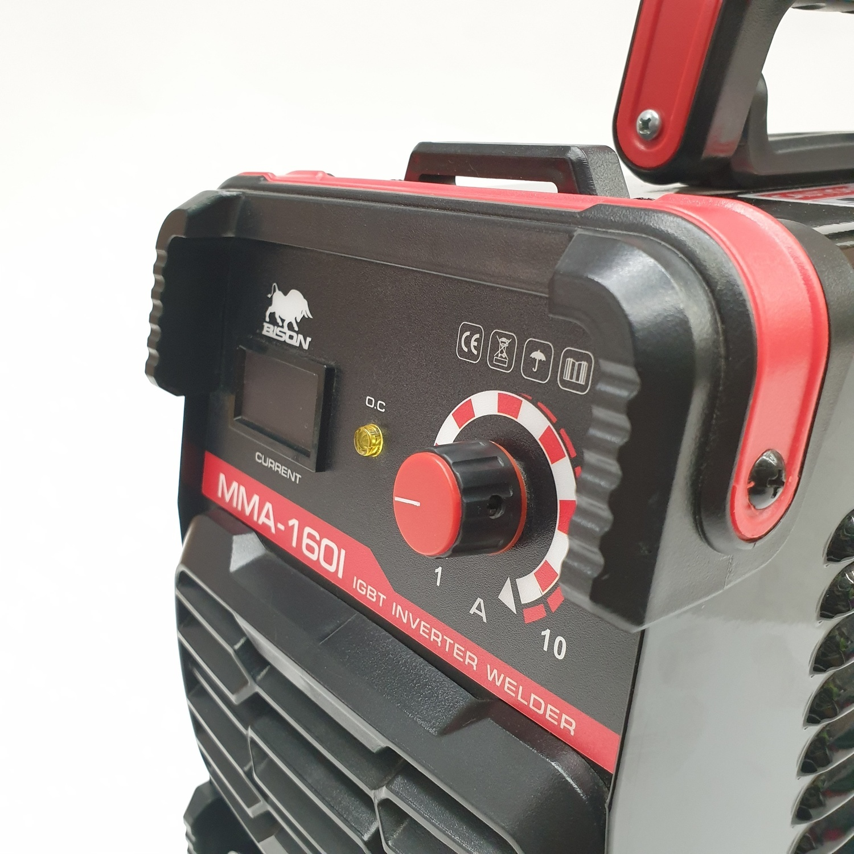 BISON ตู้เชื่อม IGBT 160A MMA-160I สีแดง-ดำ