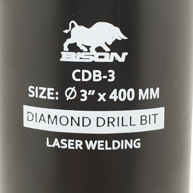 BISON กระบอกคอริ่งเจาะคอนกรีต CDB-3 สีดำ