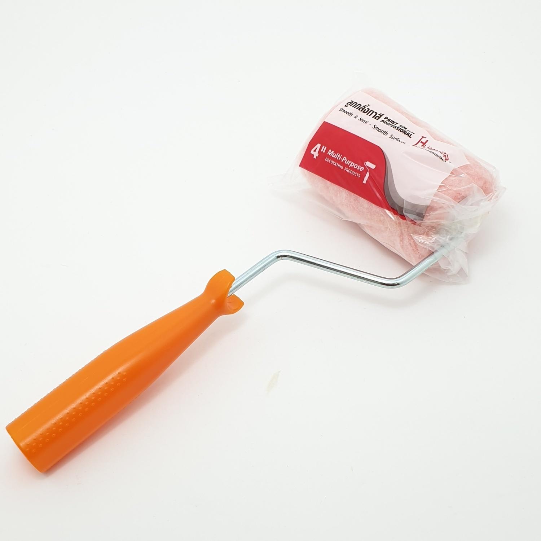 HUMMER ลูกกลิ้งทาสี พร้อมด้าม ขนาด 4 นิ้ว DTPT339 สีชมพู