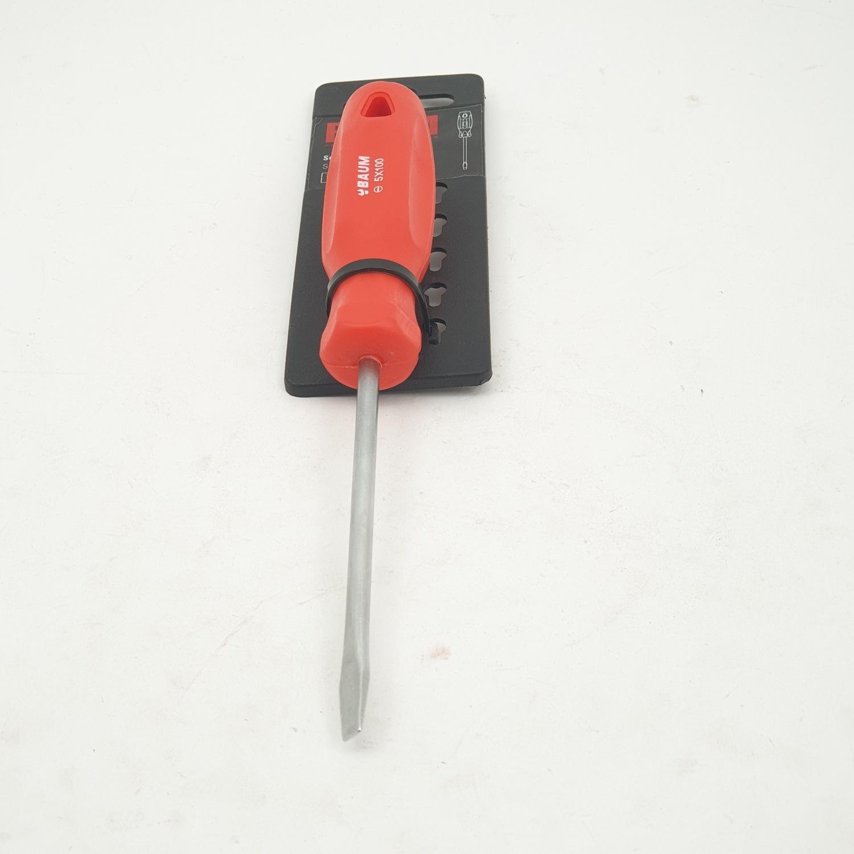 BAUM ไขควงปากแบน ด้ามแดง 5X100 MM   314S