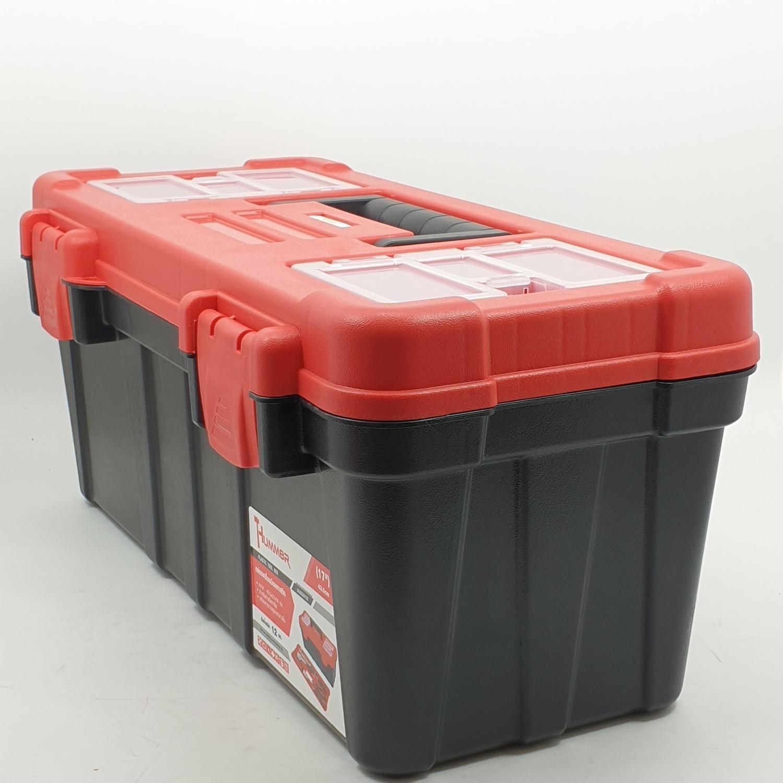 HUMMER กล่องเครื่องมือพลาสติก 17นิ้ว  GLB320132 สีแดง-ดำ สีดำ