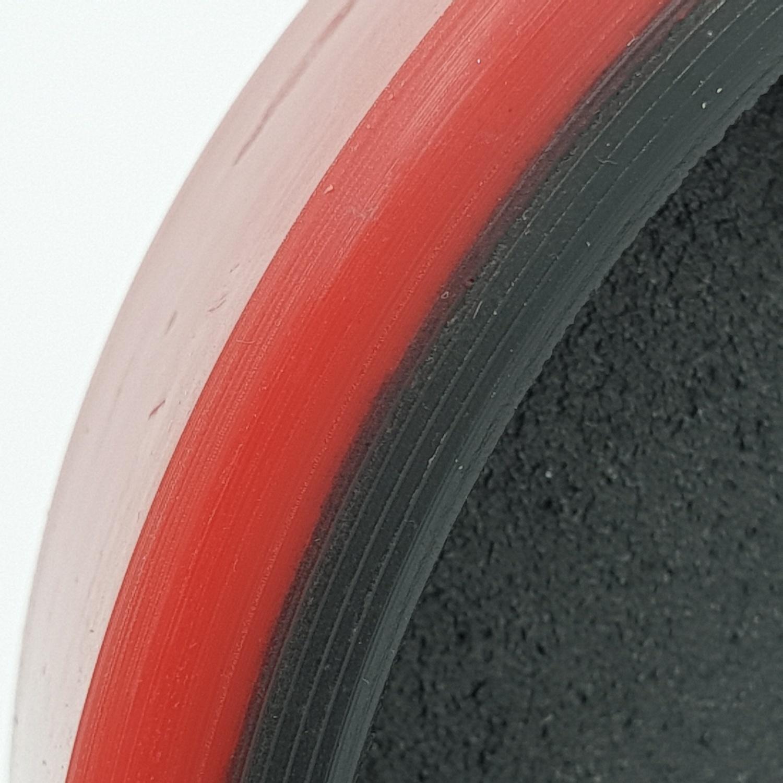 - อะไหล่-ล้อบังคับ PU รถยกแฮนด์ลิฟท์ รุ่น 25B-W160  25B-W160 สีแดง