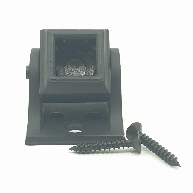 HUMMER ฐานรับเหล็กดัดราวระเบียง  GH004 สีดำ