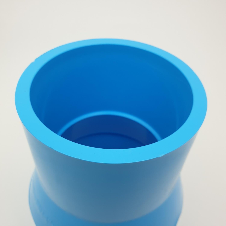 3 เอ ข้อต่อตรงลด(13.5)4x3(100x80) - สีฟ้า