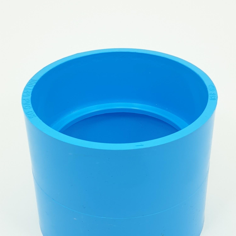 AAA ข้อต่อตรง  แบบบาง 4นิ้ว (100) ชั้น 8.5 สีฟ้า