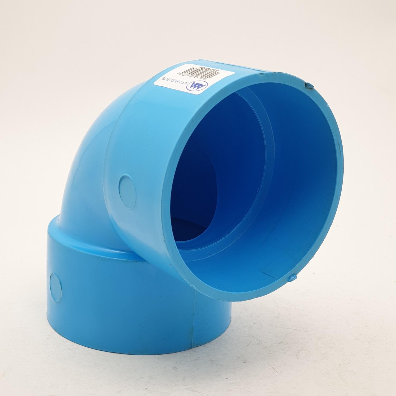 AAA ข้องอ 90 แบบบาง 3นิ้ว (80) ชั้น 8.5   สีฟ้า