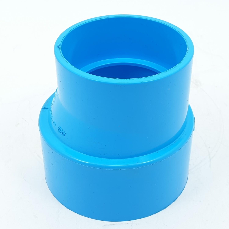 AAA ข้อต่อตรงลด แบบบาง  2 1/2นิ้ว X 2นิ้ว (65X55) ชั้น 8.5  สีฟ้า