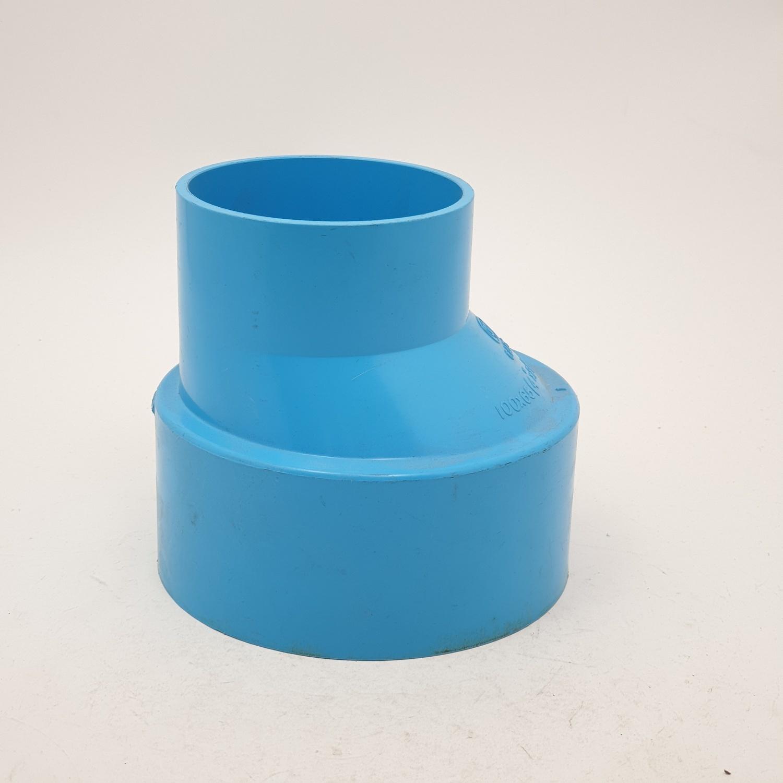 AAA ข้อต่อตรงลด  แบบบาง 4นิ้ว X 2 1/2นิ้ว(100X65) ชั้น 8.5  สีฟ้า