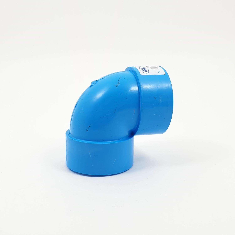 3 เอ ข้องอ 45 แบบบาง 2นิ้ว (55)  ชั้น 8.5 (แพ็ค4) สีฟ้า