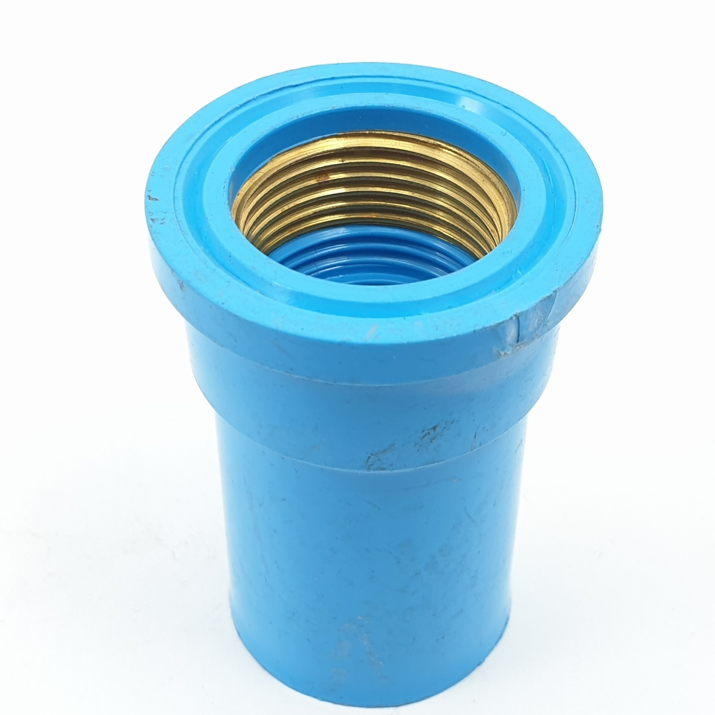 AAA ข้อต่อตรงเกลียวในทองเหลือ  หนา 3/4นิ้ว (20) ชั้น 13.5  สีฟ้า