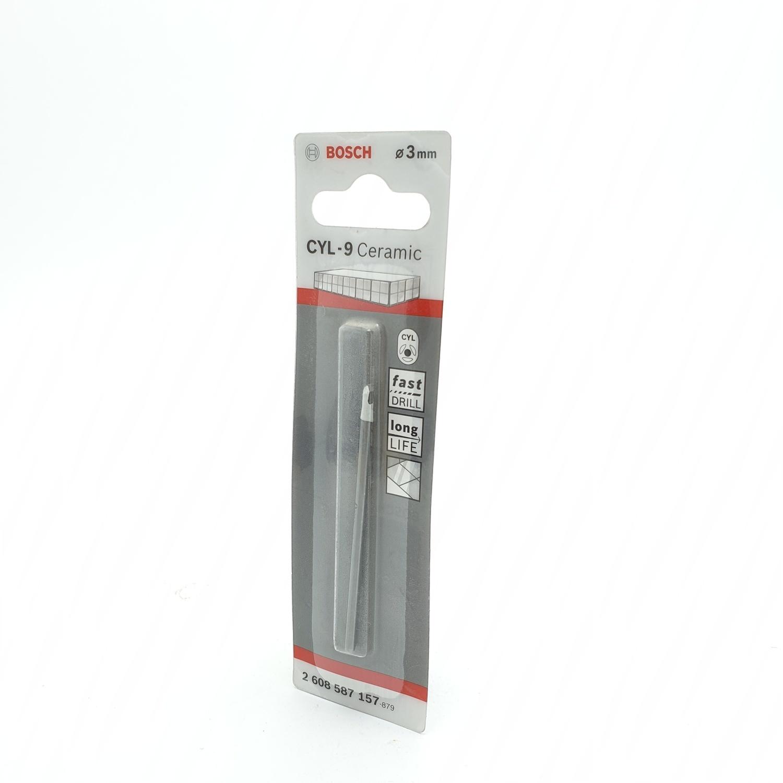 BOSCH ดอกเจาะกระเบื้อง  Tile drill bit 3 x 70 mm (1) เทา-ขาว