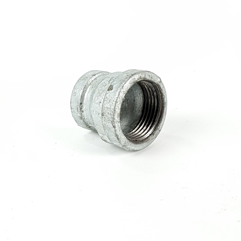 VAVO ข้อต่อตรงลดเหล็ก  1นิ้ว X 3/4นิ้ว สีโครเมี่ยม