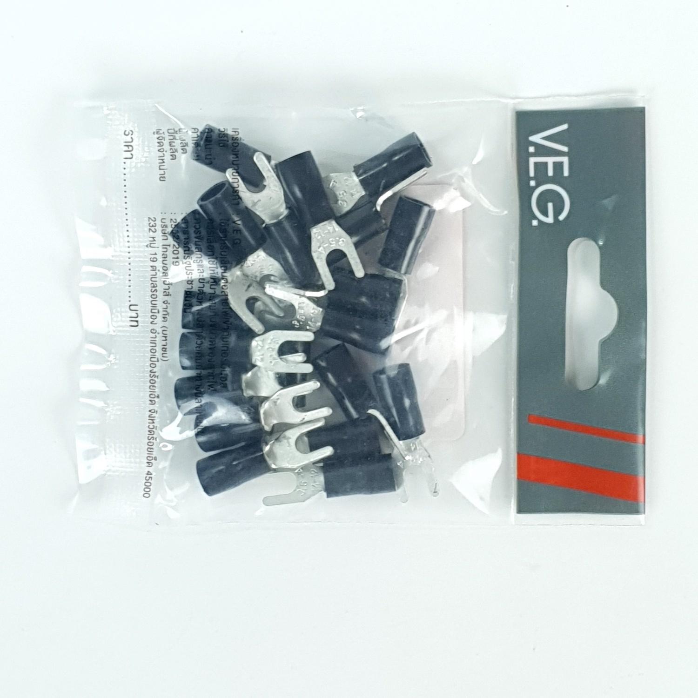 V.E.G หางปลาแฉกหุ้ม YF4-4 สีดำ