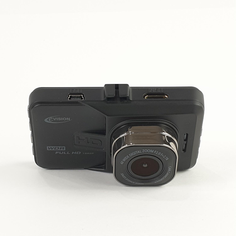 EVISION กล้องติดรถยนต์ (กล้องหน้าและหลัง) (3 นิ้ว) ขนาด 8.70x3.35x5.30 ซม.  CD-060R  สีดำ