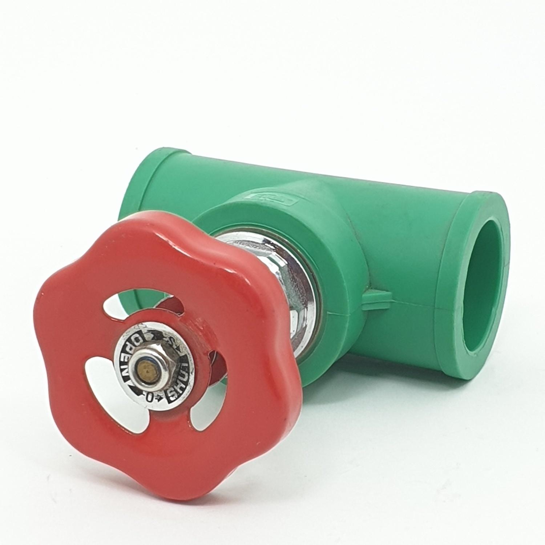 ERA ประตูน้ำ 32mm 1นิ้ว (PPR) PR011   สีเขียว