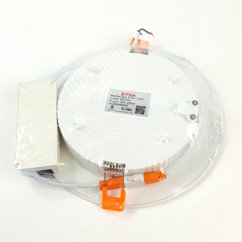SYLLA ดาวน์ไลท์ฝังฝ้า  แบบกลม Φ145 mm  18W Die-casting ultra-thin
