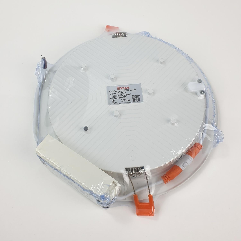 SYLLA ดาวน์ไลท์ฝังฝ้า  แบบกลม Φ160 mm  24W Die-casting ultra-thin