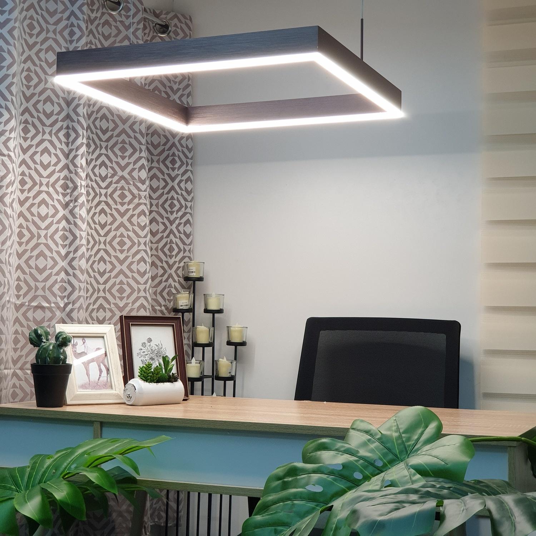 SYIIA โคมไฟห้อย LED 47W คูลไวท์ ซิลล่า DXD022-600  สีน้ำตาล