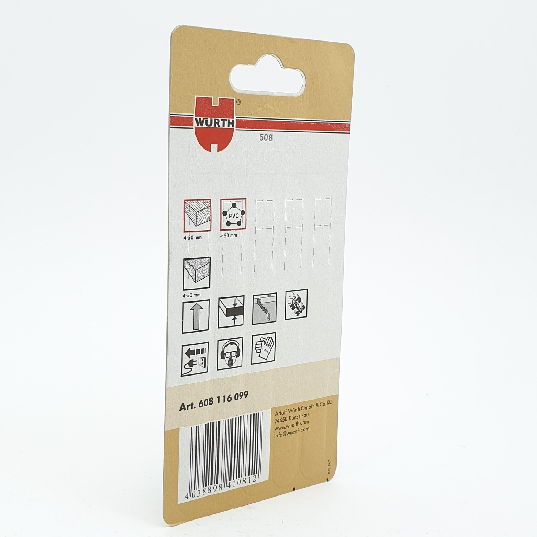 WUERTH ใบเลื่อยจิ๊กซอ สำหรับ งานไม้ (5 ใบ) Jigsaw blade, wood-5PCS