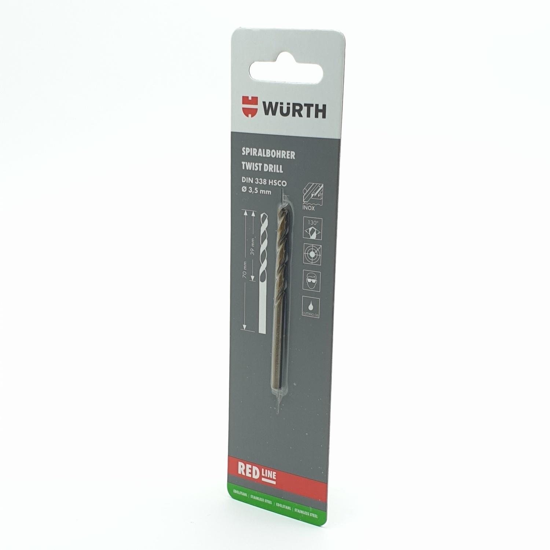WUERTH ดอกสว่าน เจาะเหล็ก ขนาด 2.5 mm. DIN 338 HSS 2.5 mm.