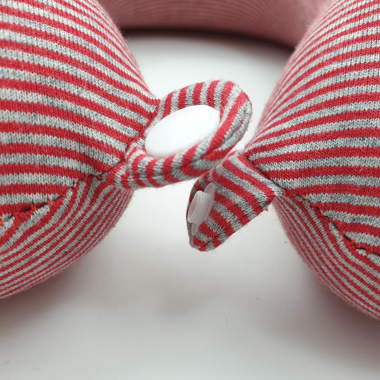 USUPSO หมอนรองคอ Pinstripe 3 (#L9) สีแดง