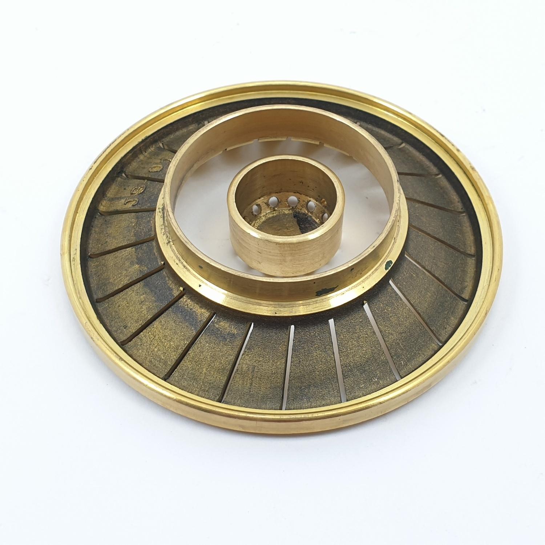 CLOSE ฝาเฟืองทองเหลืองสำหรับเตาแก๊ส  G052-BR (Ø90mm)  สีทอง