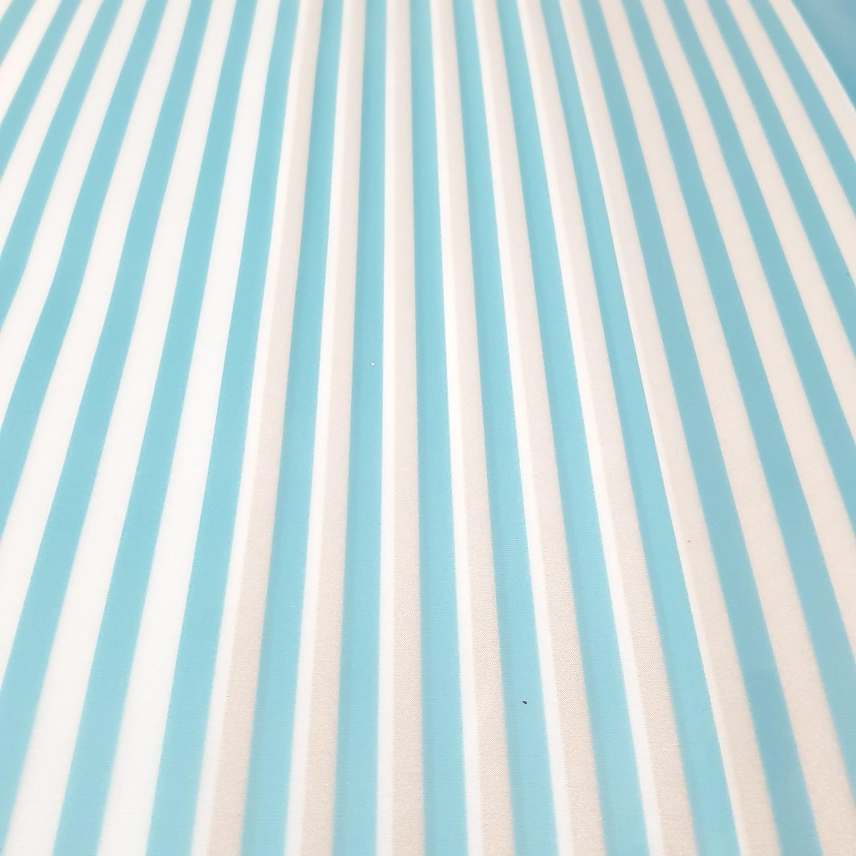SAKU ผ้าม่านห้องน้ำ ขนาด 180-180 cm HEVA13082 ลายริ้ว ฟ้า ขาว น้ำตาล