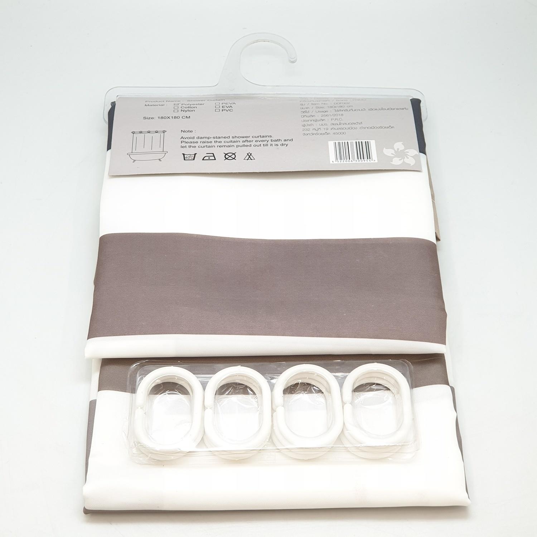 PRIMO ม่านห้องน้ำโพลีเอสเตอร์ ขนาด 180x180 cm. DDF002 คละสี