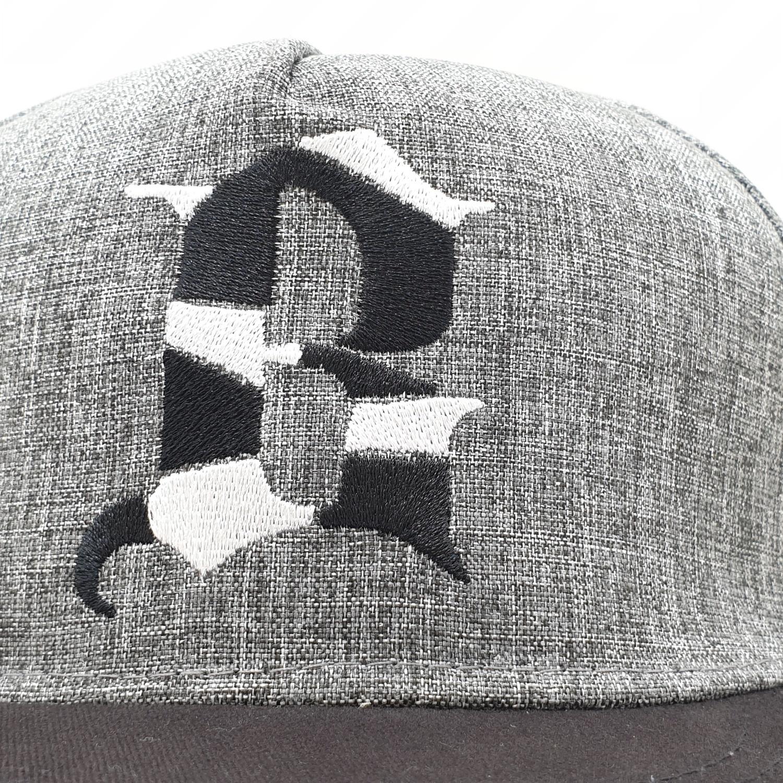 USUPSO หมวกแก๊ป  Slub yarn letter สีเทา