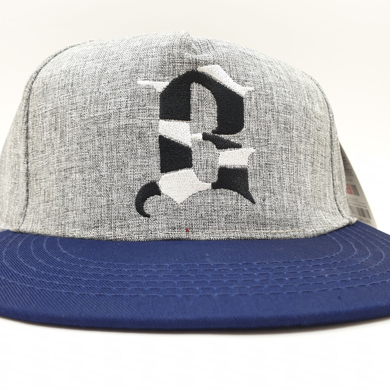 USUPSO หมวกแก๊ป Slub yarn letterสีเทาอ่อน - สีเทา