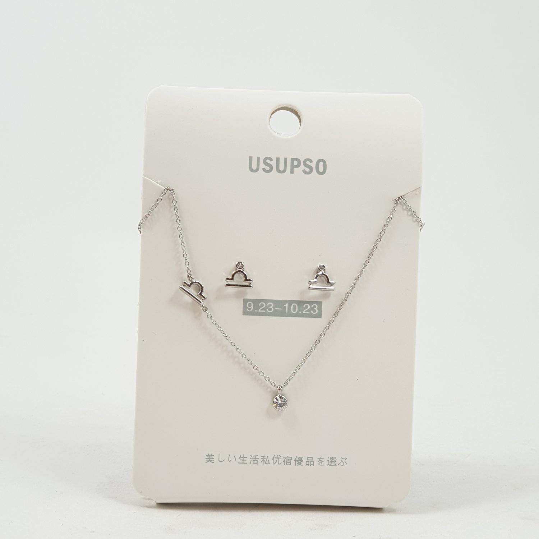 USUPSO ชุดต่างหู+สร้อยคอ Libra