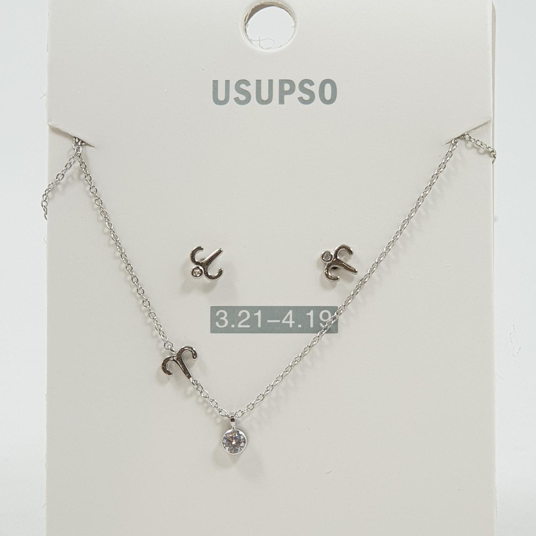 USUPSO ชุดต่างหู+สร้อยคอ Aries