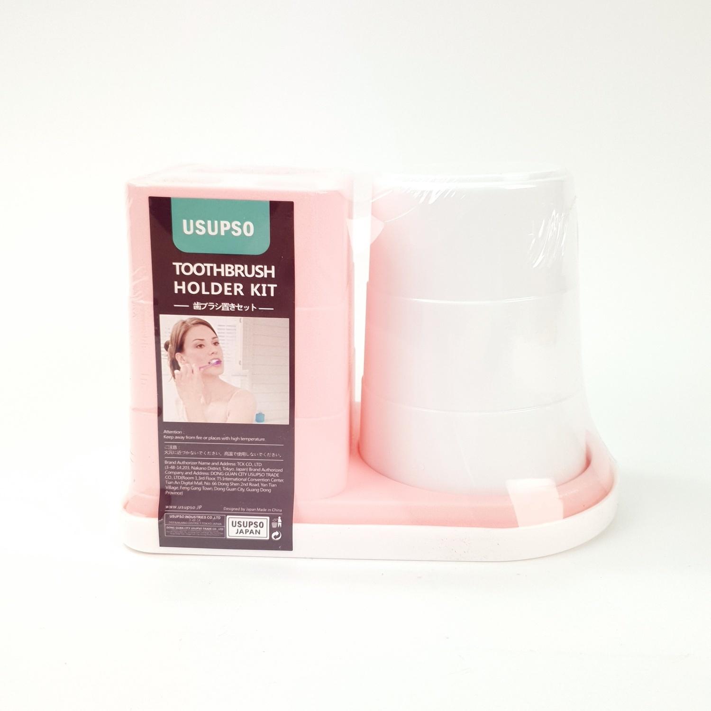 USUPSO ที่วางอุปกรณ์แปรงฟันพร้อมแก้ว  -