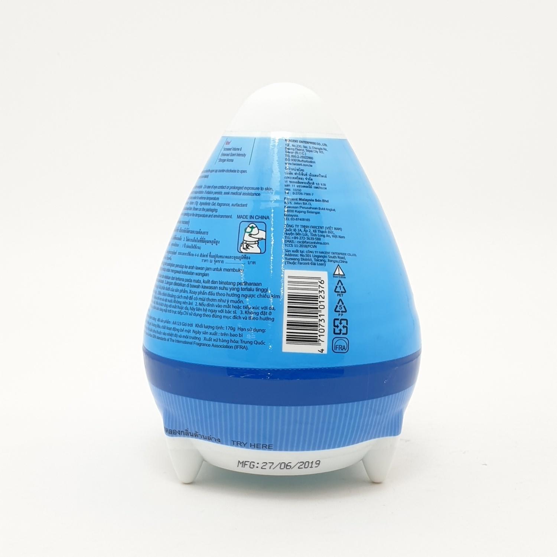 Farcent ฟาร์เซ็นท์เจลปรับอากาศรูปไข่ 170กรัม(สกายบรีซ) AA-1232B สีฟ้า
