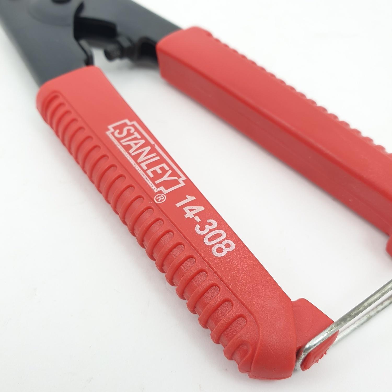 STANLEY กรรไกรตัดเหล็กเส้น 8 นิ้ว 14-308 ดำ-แดง
