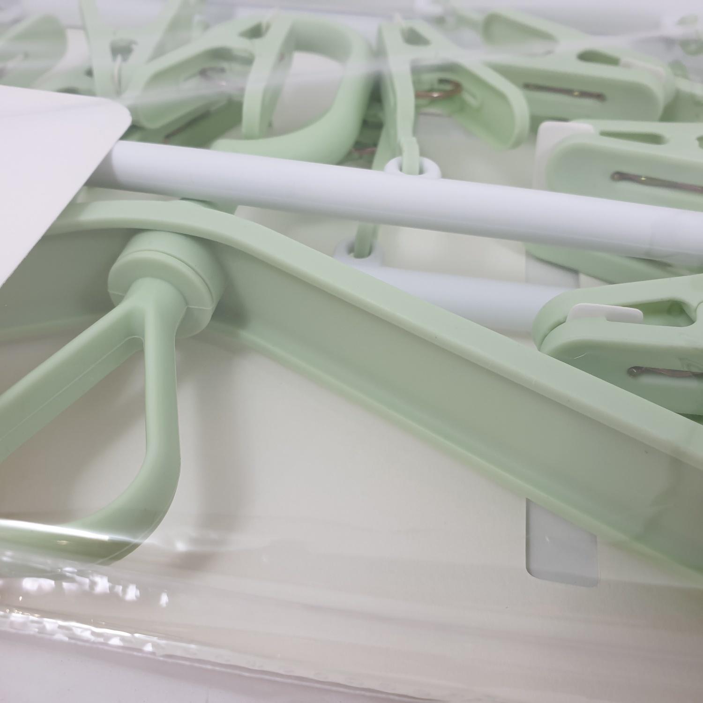 USUPSO ที่หนีบผ้า  20 ชิ้น  สีเขียว