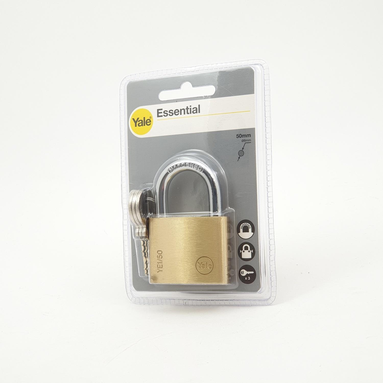 YALE กุญแจคล้องห่วงคล้องเหล็ก  ขนาด 50 มม. YE1/50/126/1 ทองเหลือง