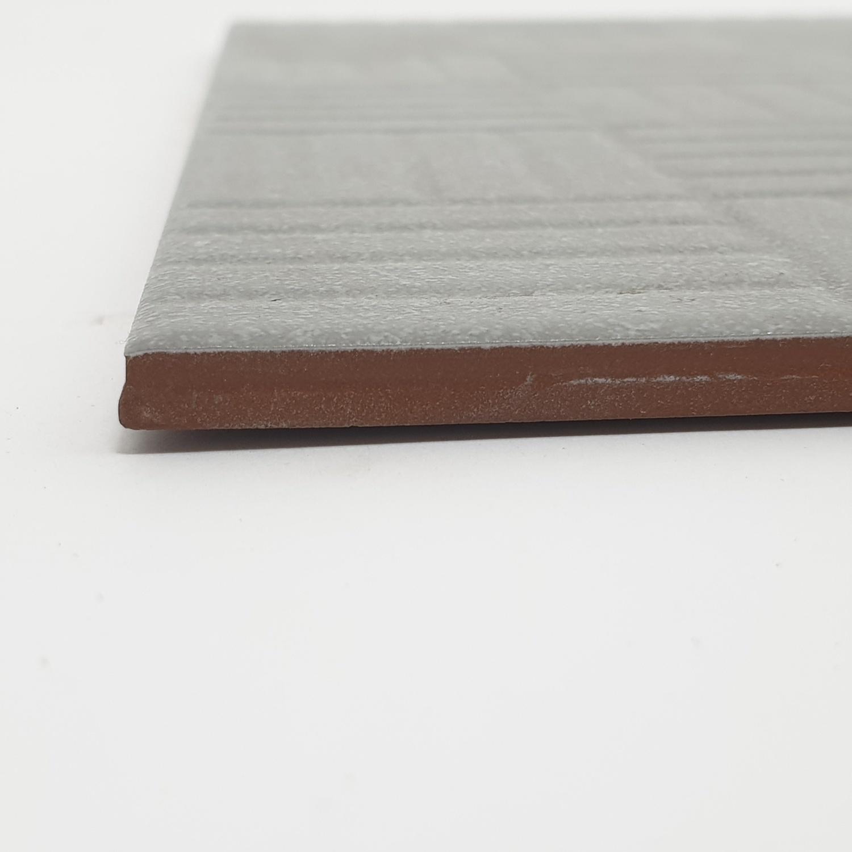 Sosuco กระเบื้องปูพื้นหน้าหยาบ 12x12 ลอนทรายสวย A. ผิวหยาบ  (MATT)  สีเทา