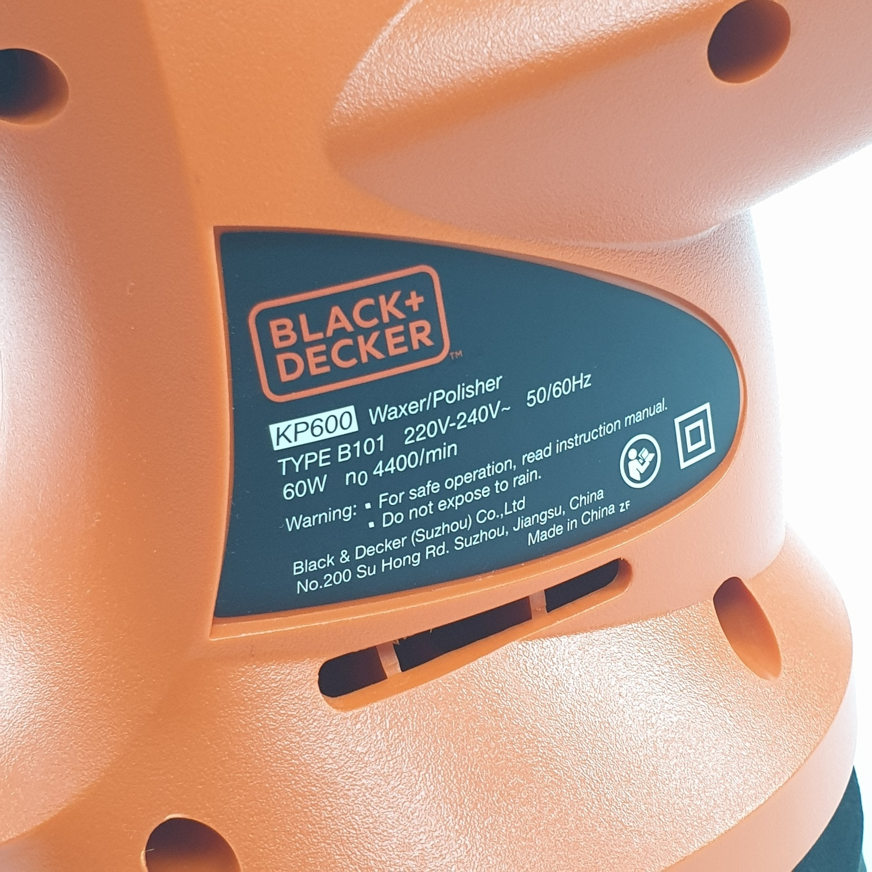 BLACK AND DECKER เครื่องขัดเงารถยนต์ KP600 สีส้ม