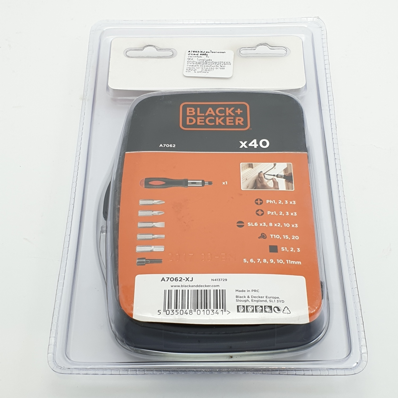 BLACK&DECKER ชุดไขควงอเนกประสงค์ A7062