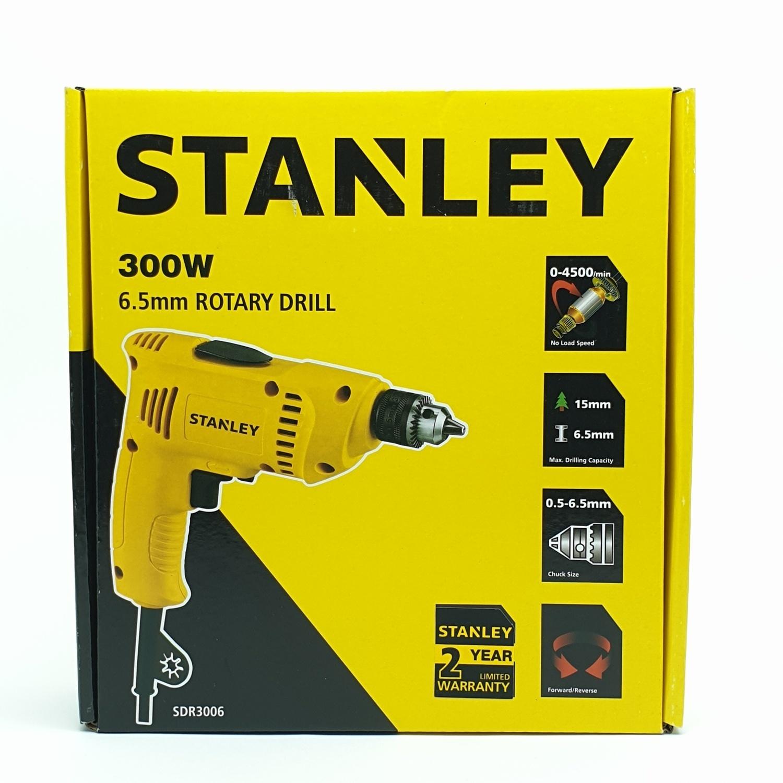 STANLEY สว่านไฟฟ้า 6.5 มม. 300 วัตต์ SDR3006 เหลือง-ดำ