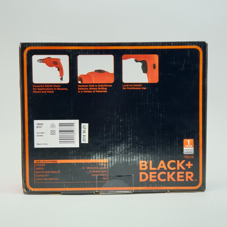 BLACK AND DECKER สว่านกระแทกไฟฟ้า 10 มม. 550W   TB555-B1 สีส้ม