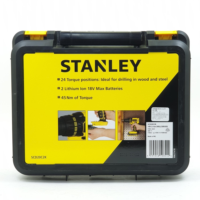 STANLEY สว่านไร้สาย 18 โวลต์ SCD20C2