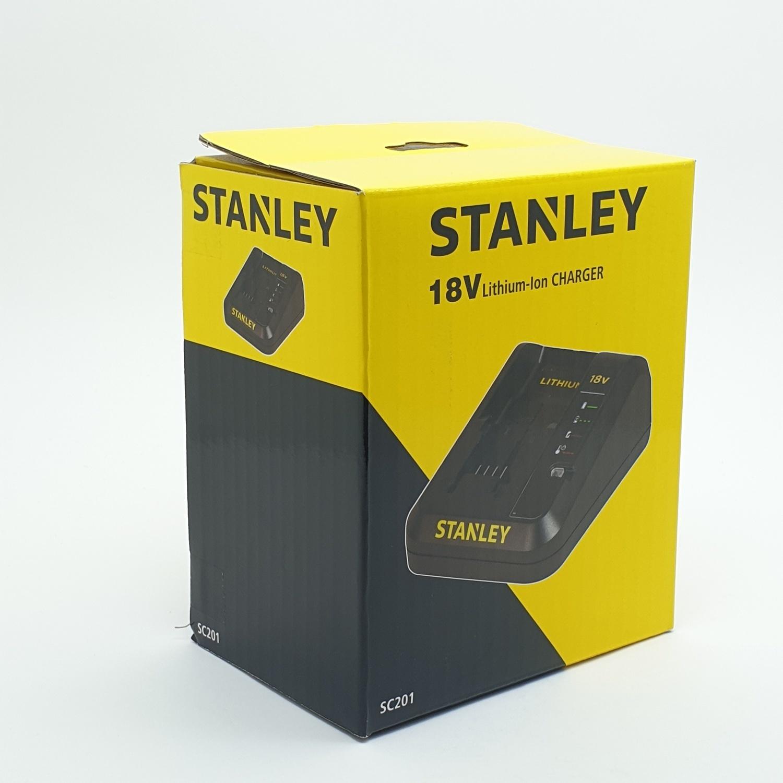 STANLEY แท่นชาร์จ-สว่านไฟฟ้าไร้สาย SC201 สีเหลือง