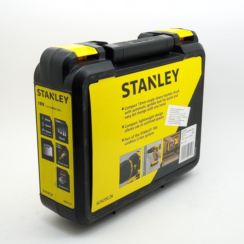 STANLEY สว่านกระแทกไร้สาย 18 โวลต์ SCH20C2K