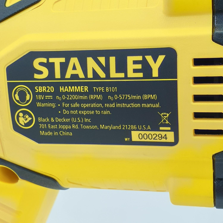 STANLEY สว่านโรตารี่ 3 ระบบ 18V SBR20M2K-B1 สีเหลือง