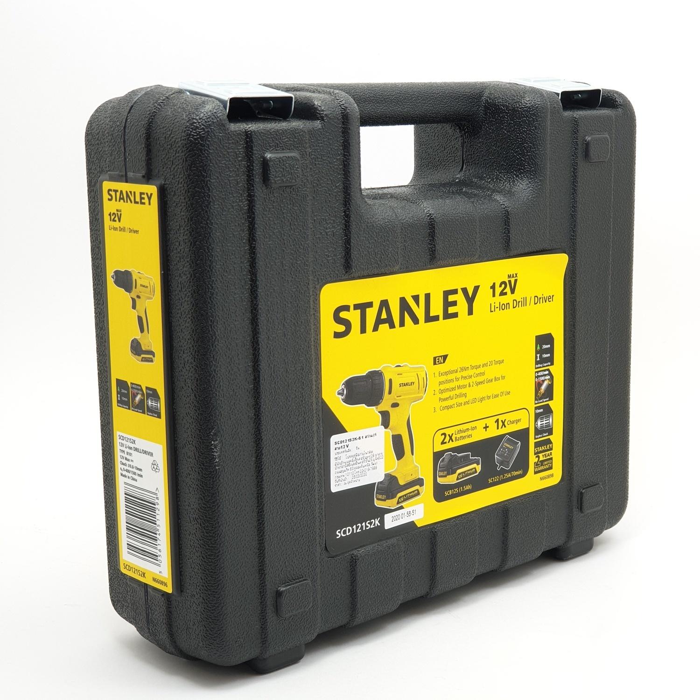 STANLEY สว่านไร้สาย 12V+แบตเตอรี่ 2 ก้อน SCD121S2K-B1 สีเหลือง