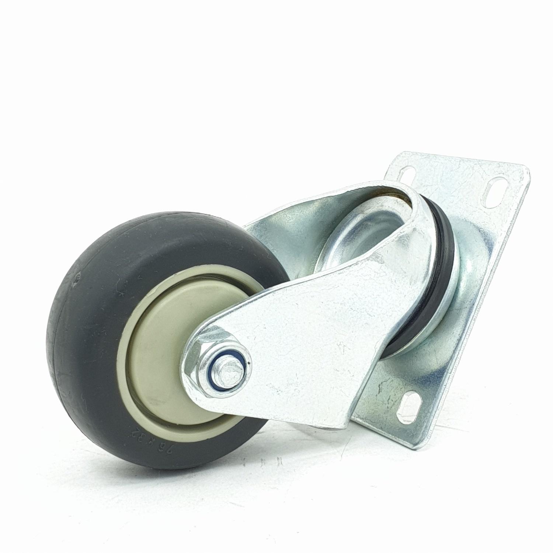 - ล้อ TPR แป้นหมุน  4201-77 สีดำ