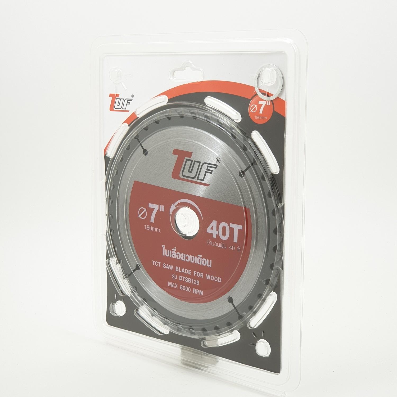 TUF ใบเลื่อยวงเดือน DTSB139 7นิ้วx40Tx1.5x2.2x25.4-20mm DTSB139