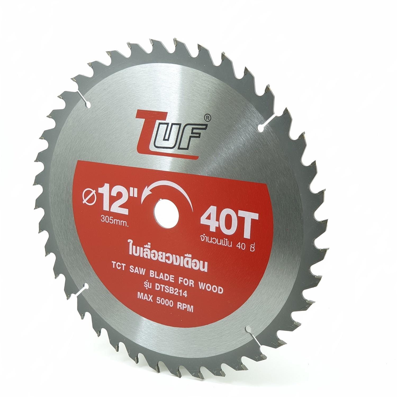 TUF ใบเลื่อยวงเดือน DTSB214 12นิ้วx40Tx2.0x3.0x25.4-20mm DTSB214 12